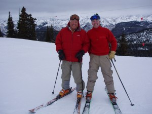 Dad and I on just another great ski day on Vail Mountain.